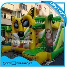 lilytoys outdoor or indoor tiger inflatable small bouncer castle with slide