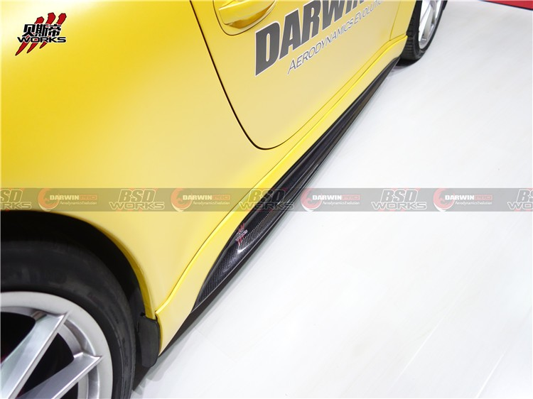 13-15 Carrera 911 991 VRS Style Carbon Fiber Side Skirt For Porsche