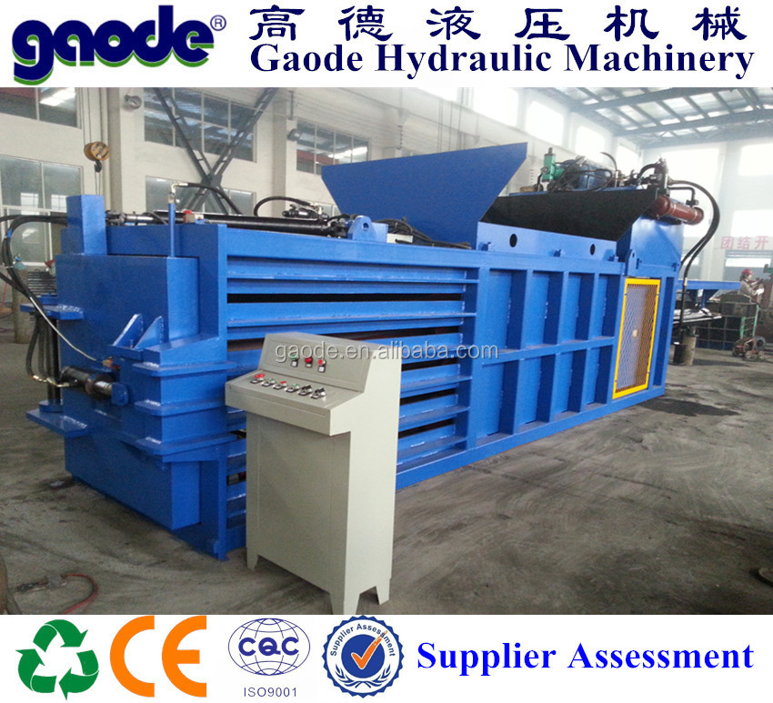 Hydraulic Waste Recycling Plastic Film Baling Machine