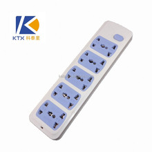 10 Way Trailing Electrical Outlet Multiple Socket In Blue