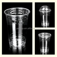 PET Crystal Clear Plastic Cup For Juice (Custom Logo Print) with Dome Lid