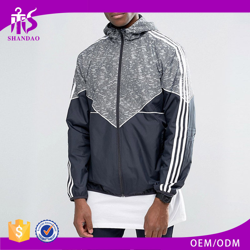 Shandao fashion polyester plain design water proof long sleeves satin baseball jacket