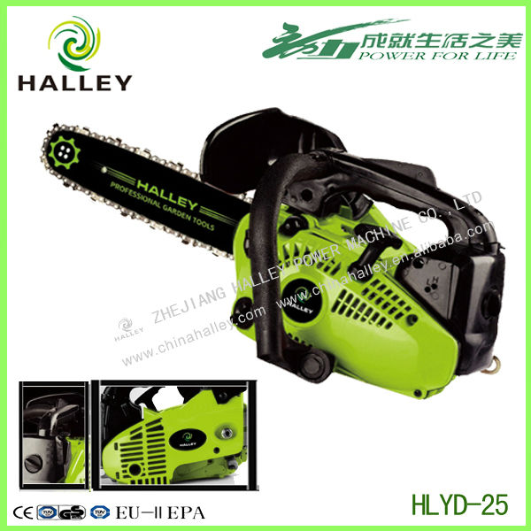 One hand mini trencher two-stroke engine 2500 chain saw with oregon chain & bar lenght 25cm