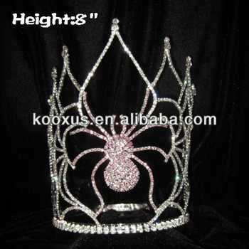 Halloween Pageant Crystal Spider Crowns