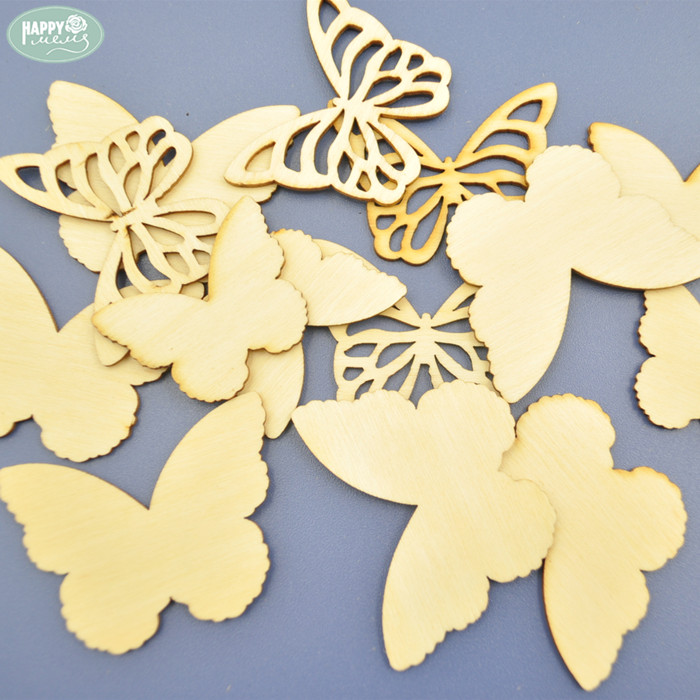Laser Cut Wood Butterfly Shapes Plywood Butterfly Pieces for DIY Decorations