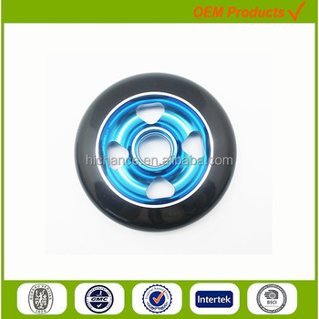 100mm aluminum alloy PU skate or scooter wheels