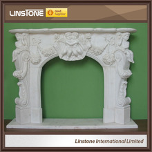 Natural modern decorative round glass fireplace