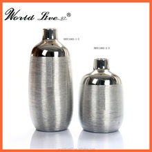Fashion Electroplated Ceramic Vase Golden Plated Vase Silver Colored Vase