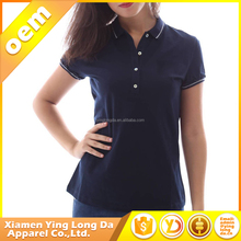 New design customised women sexy 95% cotton 5% spandex polo t-shirts