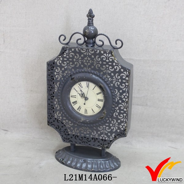 old fashioned iron antique free tabletop standing clocks