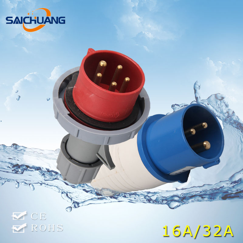 High Quality electric plug socket power electrical switch socket ip65 plug and socket