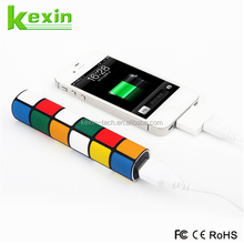 Lipstick Size External Battery 2600mah Power Bank Portable Charger with Multi Colors
