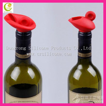 High quality custom design unique oem decorative food grade eco-friendly colorful silicone wine bottle stopper