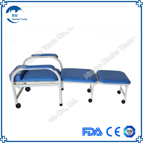 wholesales stainless steel hospital chair bed