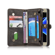 CASEME Leather Wallet Cell Mobile Phone Case Accessory for Samsung Galaxy S7 G930