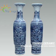Luxury 2.2 Meter Tall Large Unique Decorative Antique Chinese Porcelain Vases