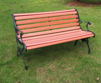 Cheap long leisure public service wood plastic used park benches