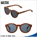 Lunette de soleil with wood frame polarized lens fahion outdoor