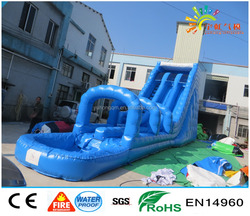 inflatable water slide with pool for adults in summer