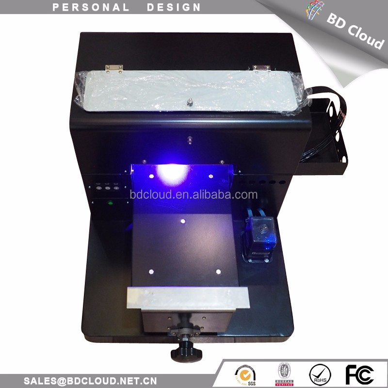 discount A4 size 6 color ink glass metal crystal UV flatbed printer