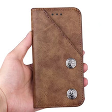 4 Colors Bronze Grain Offical Business Chamfer Purse Leather Wallet Card Slot Case for iPhone X
