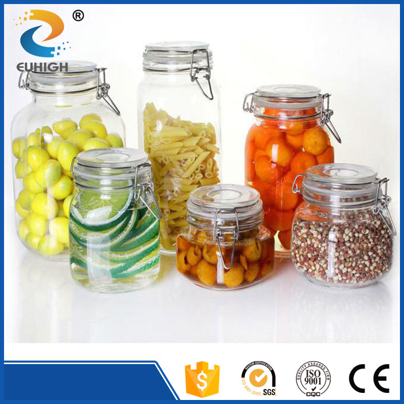 2 .2 L 2..3 L glass jar for flour and rice storage