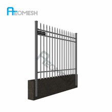 Canton Factory wrought iron fence aluminum palisade steel picket fence
