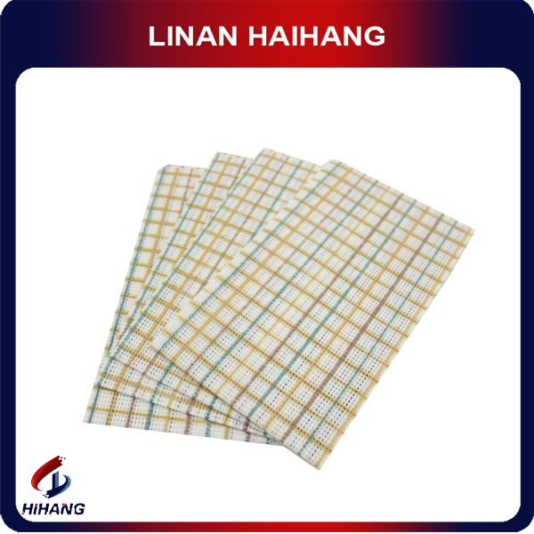 China wholesale high quality Spunlace 3 colors printing square pattern nonwoven microfiber cleaning cloth