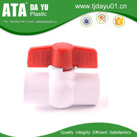 thread or socket grey or white upvc/pvc compact ball valve balls