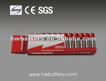 R6 Battery Packs DRY BATTERY CARBON ZINC R6-12/SC AA 1.5V