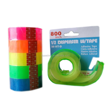 Supper Clear Colorful Stationery Tape Bopp Adhesive Tape With Dispenser