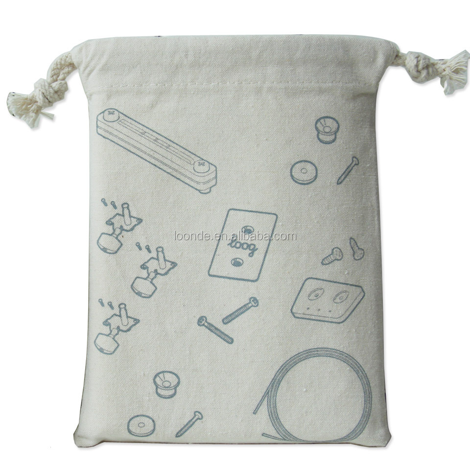 Custom mini cotton cloth insulated drawstring dust bag pouch