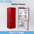 BCD-262LH retro fridge, bottom freezer refrigerator