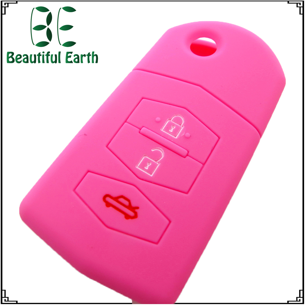 colorful Silicone car key cover 3 button silicone case for remote control