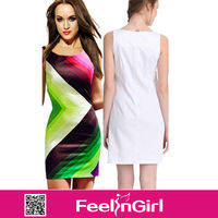 Factory price dropship 2014 new styles rainbow summer casual dress for women