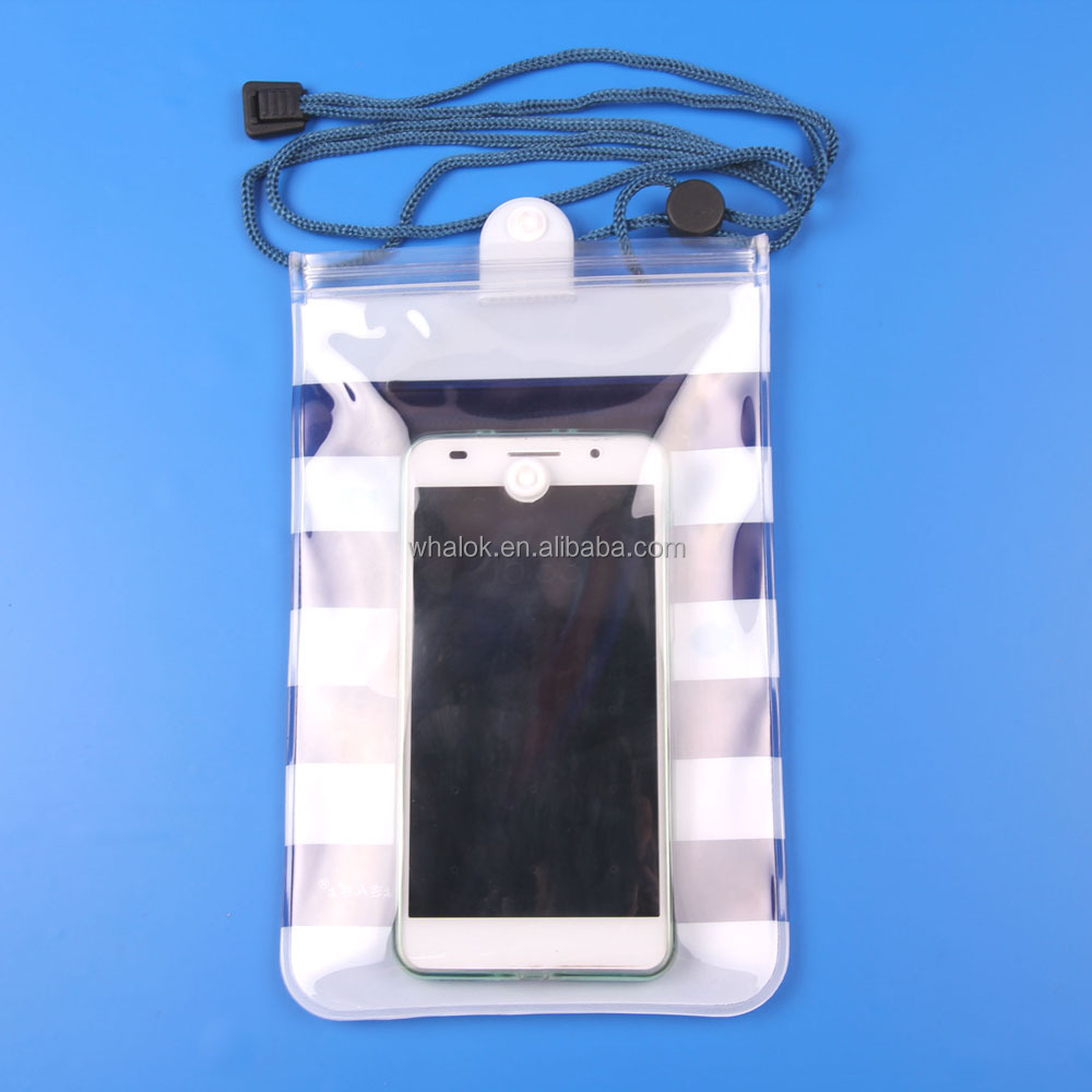 Swimming PVC Waterproof Pouch Case Mobile Phone Bag for All Cell Phone