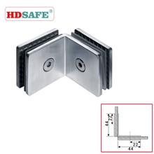 10mm tempered shower hinge for glass panel