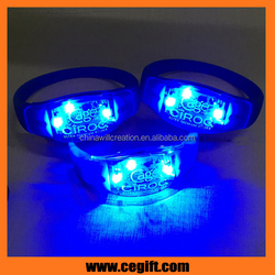 Small Blue Light Band Flashing LED Bracelet Ideal For Paracord / Kids Party