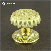 luxury flower luminous gold general usage door hardware cabinet door knobs