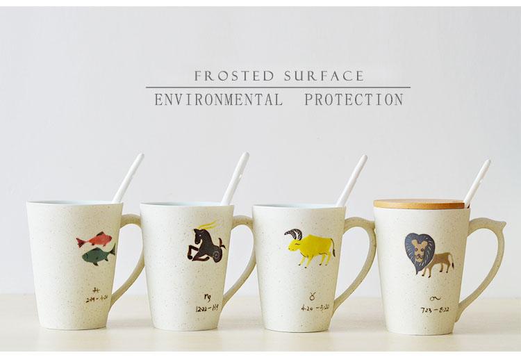330ml twelve constellations hand painted ceramic tea mug