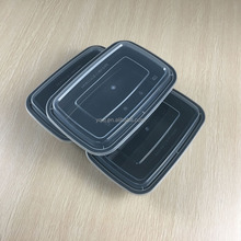 1000ml/36oz black rectangular plastic / pp food / meal / lunch storage / packaging container / boxes suppliers