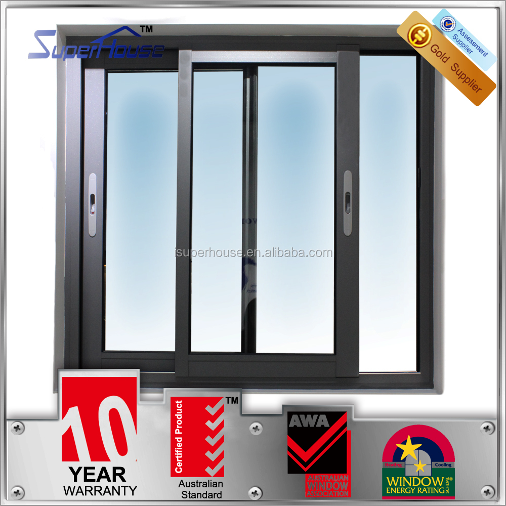 Superhouse Australia standard aluminium windows/sliding window with mosquito screen/energy efficient windows