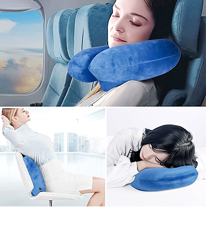 Newest Factory Price Travel U shape pillow Inflatable Neck Rest Pillow for sleeping