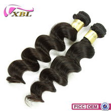 XBL Wholesale Price 8A Loose Wave Indian Remy Hair Weaving