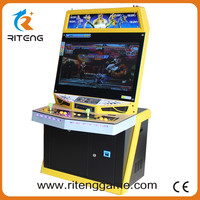 China wholesale cheap 32 inch LCD 2 player street fighter cocktail table top game machine for 520 in 1