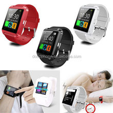 Cheapest Smart Watch U8 Android Watch Firmware with Camera Bluetooth Call SMS Reminder Pedometer For IOS Android HTC Phones