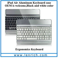 LBK155 Bluetooth Wireless Metal Aluminum Keyboard Case Cover for iPad Air Ipad5