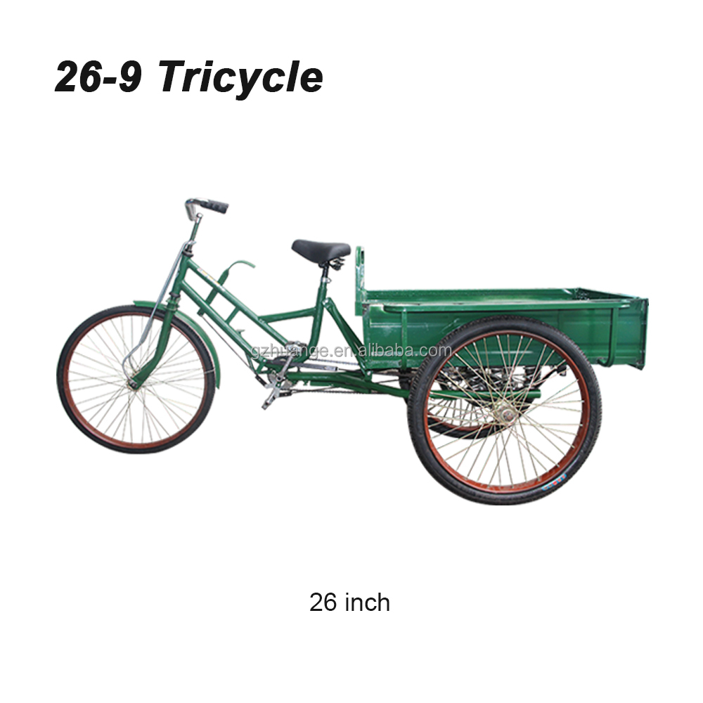 20 24 26 Inch Tricycle Bicycle For Adult Pedal Cargo Three