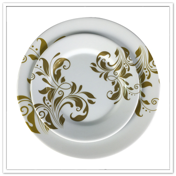 Round 8'' food grade melamine lunch food plate wholesale