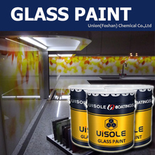 white color protective primer glass coating matching use with flat bed printer